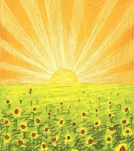 illustration of a sunrise